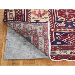 "3'8""x10' Vintage Persian Northeast Pure Wool Wide Runner Oriental Rug FWR267300"