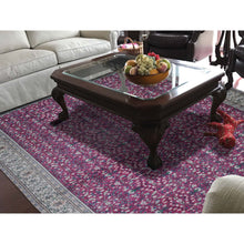 "Load image into Gallery viewer, 7'6""x11'1"" Vintage Turkish Kayseri Sheared Low Pure Wool Hand-Knotted Oriental Rug FWR267354"