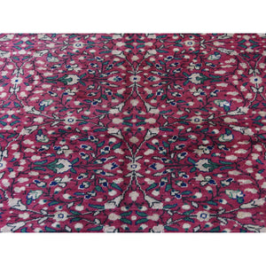 "7'6""x11'1"" Vintage Turkish Kayseri Sheared Low Pure Wool Hand-Knotted Oriental Rug FWR267354"