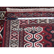 "Load image into Gallery viewer, 3'2""x4'1"" Turkoman Prayer Design Pure Wool hand-Knotted Oriental Rug FWR267378"
