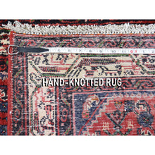 "Load image into Gallery viewer, 3'4""x4'6"" Vintage Persian Hamadan Pure Wool Hand-Knotted Oriental Rug FWR268038"