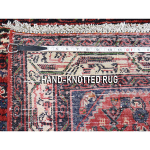 "3'4""x4'6"" Vintage Persian Hamadan Pure Wool Hand-Knotted Oriental Rug FWR268038"