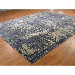 "9'2""x12 Wool And Silk Abstract Design Oriental Hand-Knotted Rug FWR268284"