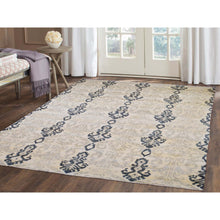 "Load image into Gallery viewer, 5'10""x8'7"" Ikat Design Pure Wool Hand Knotted Oriental Rug FWR268698"