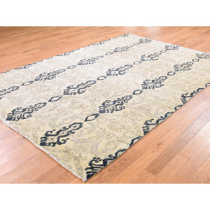 "5'10""x8'7"" Ikat Design Pure Wool Hand Knotted Oriental Rug FWR268698"