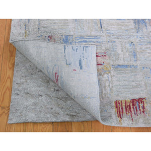 "8'10""x12' THE CROSSING POINTS, Wool And Pure Silk Hand-Knotted Oriental Rug FWR268836"