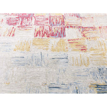 "Load image into Gallery viewer, 8'10""x12' THE CROSSING POINTS, Wool And Pure Silk Hand-Knotted Oriental Rug FWR268836"