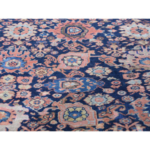 "13'5""x17'10"" Antique Persian Oversized Mahal Even wear Pure Wool Hand-Knotted Oriental Rug FWR269214"