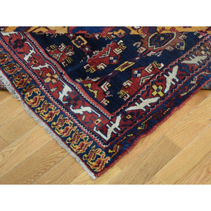 "10'4""x17'7"" Antique Persian Gallery Size Bakhtiari Pure Wool Hand-Knotted Oriental Rug FWR269232"