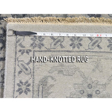 Load image into Gallery viewer, 10'x14' Silver Heriz Design Wool And Silk Hi-lo Pile Hand-Knotted Oriental Rug FWR269508