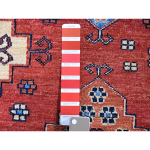 10'x14' Afghan Ersari Geometric All Over Design Pure Wool Hand-knotted Oriental Rug FWR270186