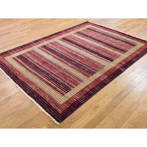 "5'4""x7'8"" On Clearance Pure Wool Peshawar Gabbeh Hand Knotted Oriental Rug FWR270336"