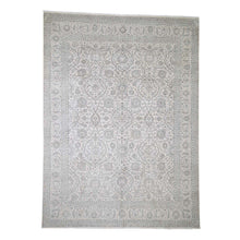 Load image into Gallery viewer, Handmade Silk Ivory Rug