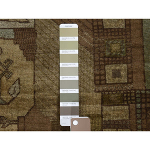 "2'8""x4'3"" Vintage Afghan Baluch Natural Colors Hand-Knotted Pure Wool Oriental Rug FWR271284"