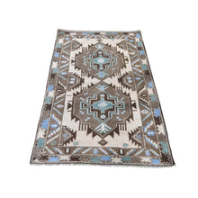 Load image into Gallery viewer, Handmade Tribal and Geometric Brown Rug