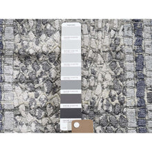 "Load image into Gallery viewer, 2'3""x3'2"" Gray Silken Roman Mosaic Design Hand-Knotted Oriental Rug FWR271692"