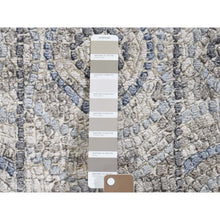 "Load image into Gallery viewer, 2'2""x3' Blue Silken Roman Mosaic Design Hand-Knotted Oriental Rug FWR271722"
