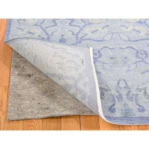 "8'x9'10"" Modern Light Blue Tone on Tone Pure Wool Hand-Knotted Oriental Rug FWR272232"