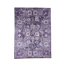 Load image into Gallery viewer, Handmade Fine Oriental Purple Rug