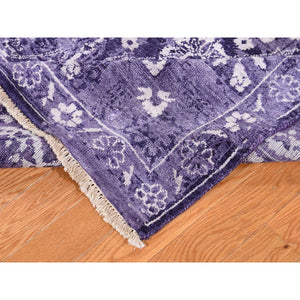 "4'10""x6'8"" Transitional Purple Tabriz Wool and Silk Hand-Knotted Oriental Rug FWR272640"