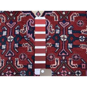"3'7""x4'10"" New Persian Bijar Red Pure Wool hand-Knotted Oriental Rug FWR273660"