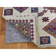 Load image into Gallery viewer, 5'x7' Ivory Super Kazak Oriental Pure Wool Hand-Knotted Oriental Rug FWR273804