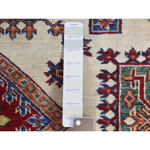5'x7' Ivory Super Kazak Oriental Pure Wool Hand-Knotted Oriental Rug FWR273804