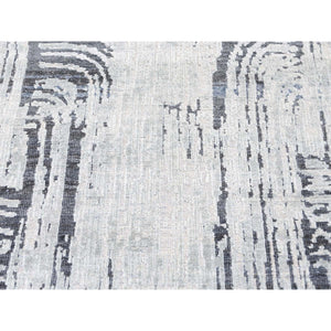 "8'9""x12'2"" THE CANE, Pure Silk With Textured Wool Hand-Knotted Oriental Rug FWR274212"
