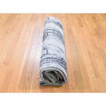 "Load image into Gallery viewer, 8'9""x12'2"" THE CANE, Pure Silk With Textured Wool Hand-Knotted Oriental Rug FWR274212"