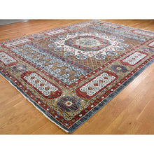"Load image into Gallery viewer, 10'2""x14'2"" Gold Mamluk Design Veg Dyes Hand Spun New Zealand Wool Oriental Rug FWR275298"