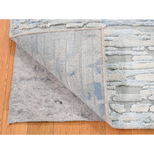 2'x2' Sampler luxurious Plush Pure Silk With Textured Wool Hand-Knotted Oriental Rug FWR280362