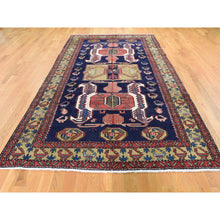 "Load image into Gallery viewer, 5'7""x11' Vintage North West Persian With Ancient Peacocks Figure Motifs Wide Gallery Runner Hand-Knotted Oriental Rug FWR280500"