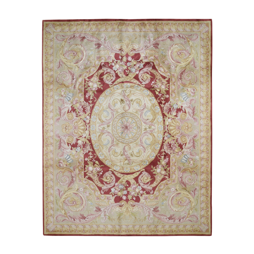 8'x10' Hand-Knotted Thick And Plush Savonnerie Napoleon III Design Oriental Rug FWR280668