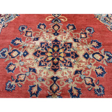 "Load image into Gallery viewer, 5'9""x9'10"" Red Vintage Persian Mahal Open Field Pure Wool Hand Knotted Oriental Rug FWR285018"