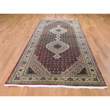 "Load image into Gallery viewer, 5'x12'9"" Red Tabriz Mahi Gallery Size Wool And Silk Hand Knotted Oriental Rug FWR294276"