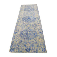 "Load image into Gallery viewer, 2'5""x8' Wool And Silk Mamluk Design Jacquard Hand Loomed Runner Oriental Rug FWR294678"