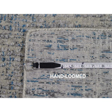 "Load image into Gallery viewer, 2'6""x9'9"" Gray Fine jacquard Hand-Loomed Runner Modern Wool And Silk Oriental Rug FWR294798"