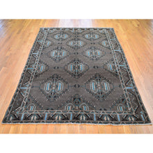 "Load image into Gallery viewer, 6'8""x9'9"" Washed Out With Natural Colors Baluch Hand Knotted Pure Wool Oriental Rug FWR295056"
