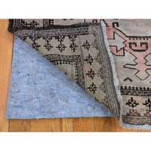 "Load image into Gallery viewer, 6'5""x9'4"" Washed Out With Taupe And Salmon Color Pure Wool Hand Knotted Oriental Rug FWR295176"