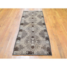 "Load image into Gallery viewer, 2'5""x8' Washed Out Afghan Baluch With Natural Colors Pure Wool Runner Hand Knotted Oriental Rug FWR295542"