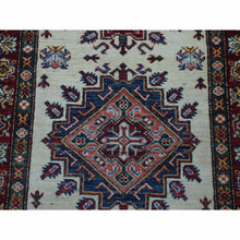 "Load image into Gallery viewer, 2'9""x19'1"" Ivory Super Kazak Geometric Design Hand-Knotted XL Runner Oriental Rug FWR301122"