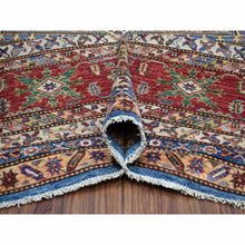 "Load image into Gallery viewer, 12'2""x15'3"" Blue Oversize Super Kazak Pure Wool Geometric Design Hand-Knotted Oriental Rug FWR301530"
