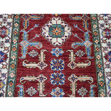 "Load image into Gallery viewer, 3'4""x19'3"" Red Super Kazak Geometric Design Hand-Knotted XL Runner Oriental Rug FWR302514"