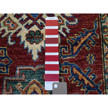 "Load image into Gallery viewer, 2'8""x20' Red Super Kazak Geometric Design XL Runner Pure Wool Hand-Knotted Oriental Rug FWR302724"