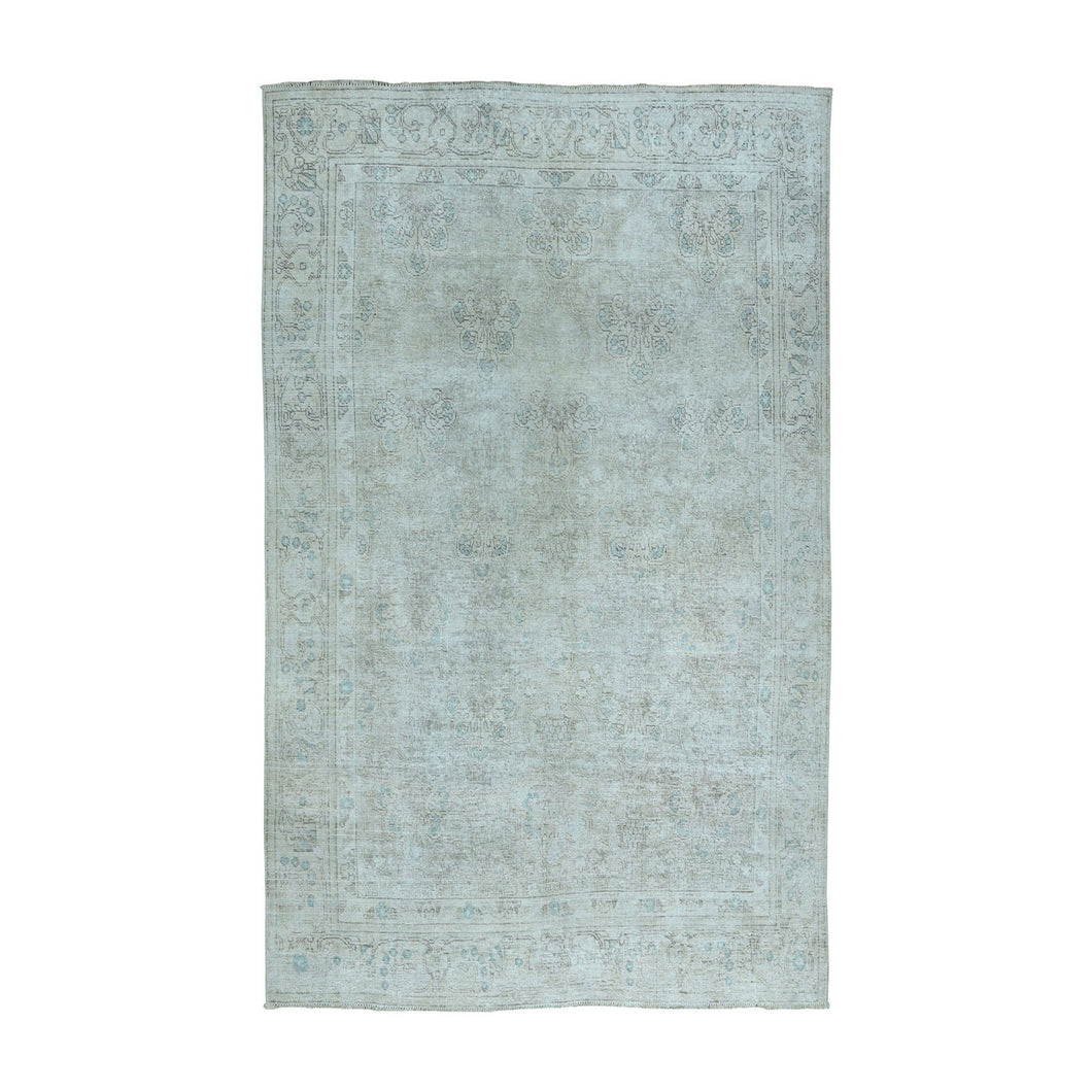 Handmade White Wash Vintage and Silver Wash Ivory Rug