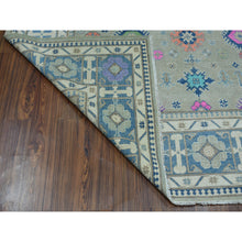 "Load image into Gallery viewer, 8'1""x9'10"" Colorful Fusion Kazak Pure Wool Hand-Knotted Oriental Rug FWR303480"