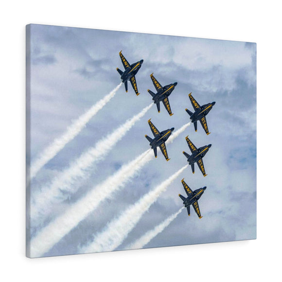 Canvas Wrap: Blue Angel Flyby