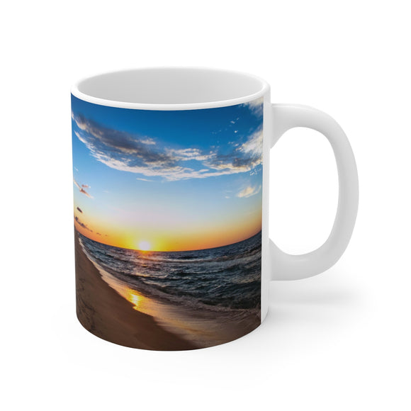 White Ceramic Mug:  I'm going coastal