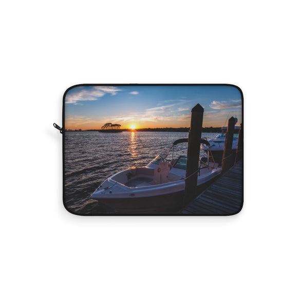 Laptop Sleeve:  Dockside Sunset