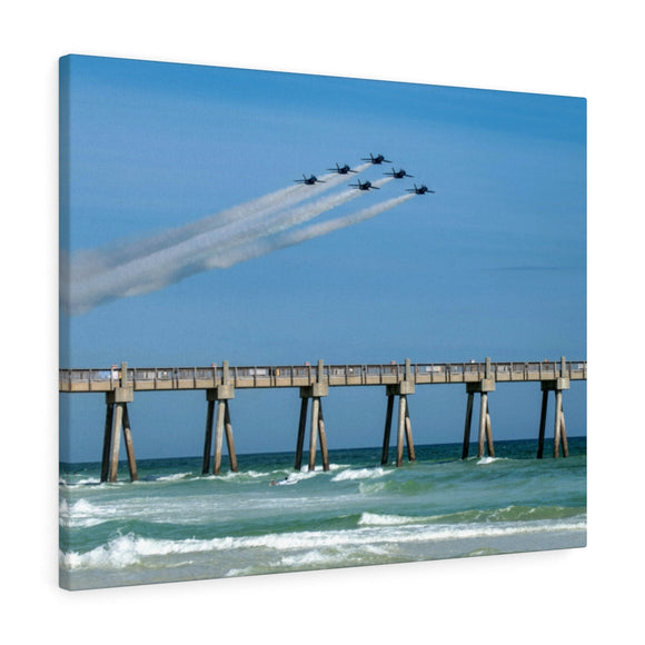 Canvas Wrap:  Blue Angels over Pensacola Beach Pier
